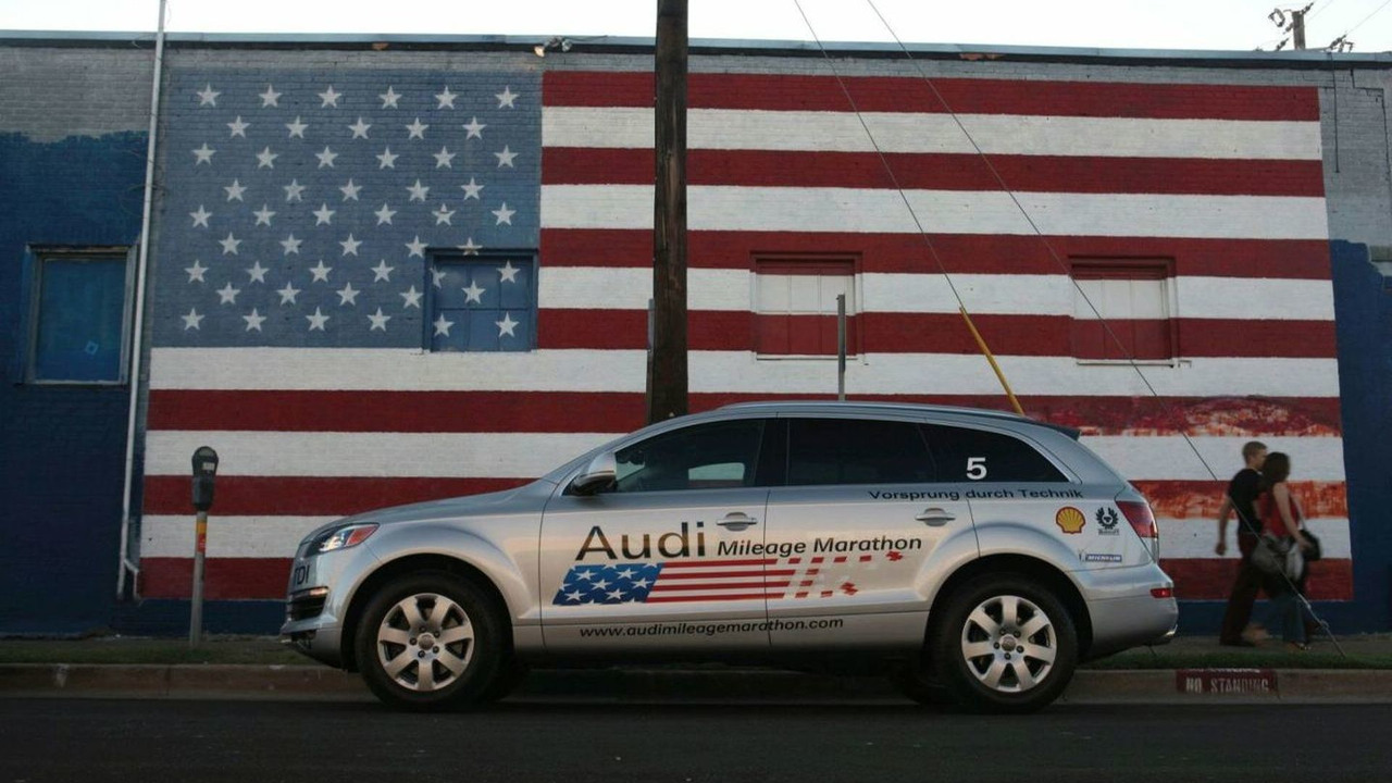 Audi Mileage Marathon, Audi Q7 3.0 TDI, Downtown Dallas, Texas, USA