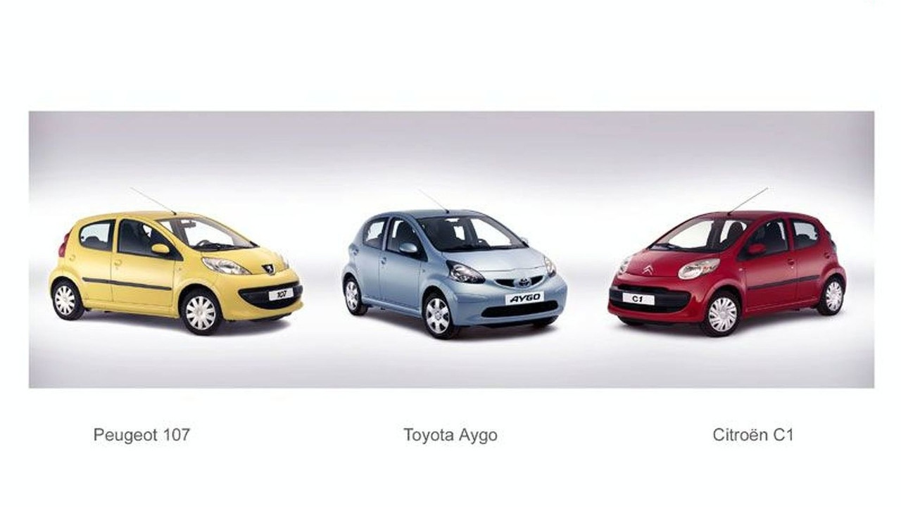 Toyota Aygo, Peugeot 107, Citroen C1