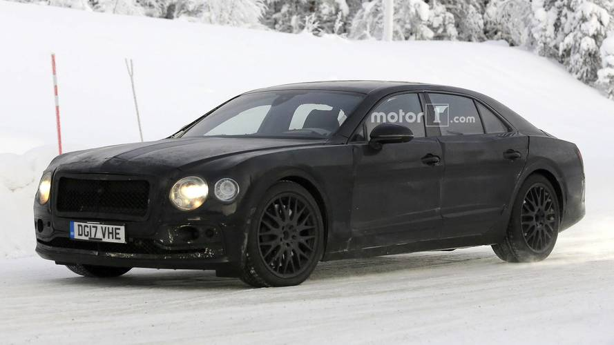 Bentley Flying Spur Can't Keep Camo On For Much Longer [UPDATE]