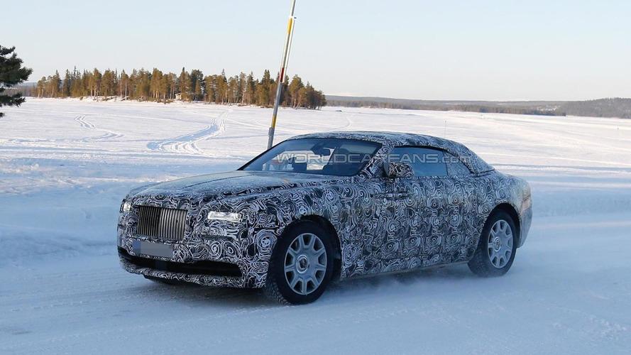 Rolls-Royce Wraith Drophead Coupe prototype spied testing in Scandinavia