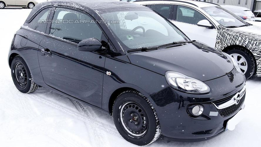Opel Adam Cabrio spied cold weather testing