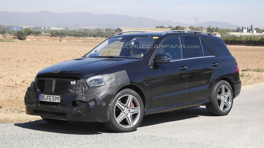 Mercedes-Benz ML 63 AMG facelift spied for the first time