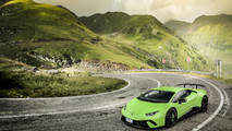 Lamborghini Huracans around the Transfagarasan pass