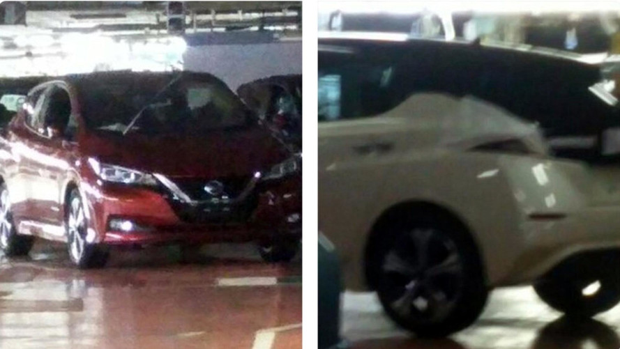 2018 Nissan Leaf Photographed At The Factory Where It's Made