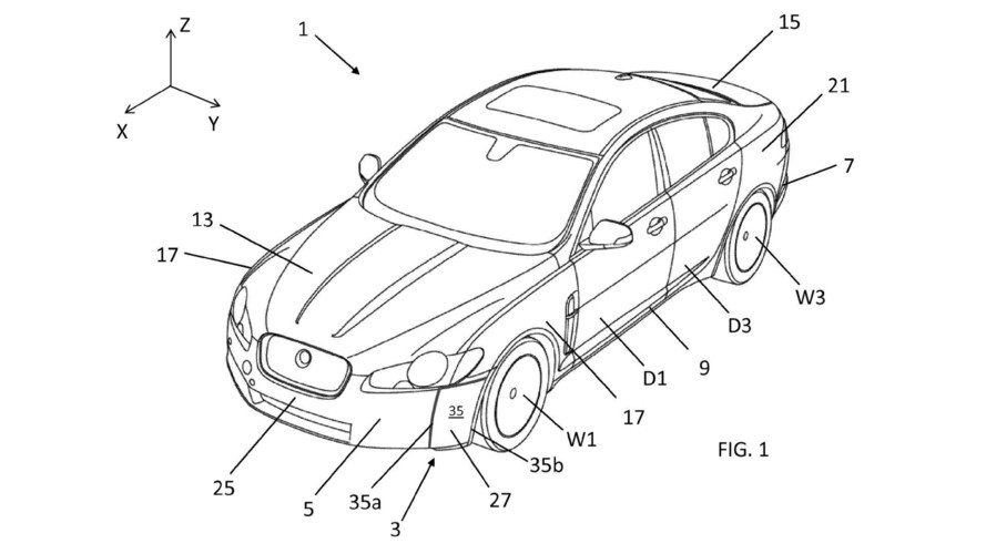Jaguar Land Rover Aerodynamic Patent