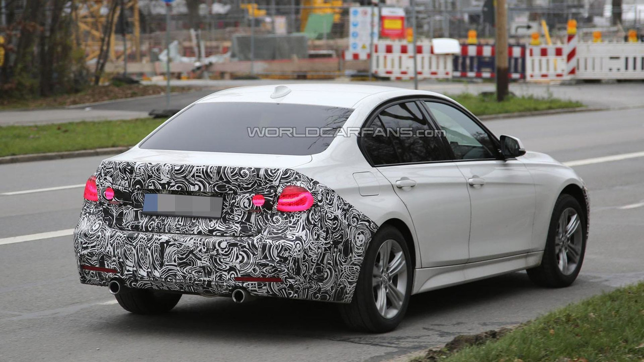 BMW 3-Series Sedan facelift spy photo