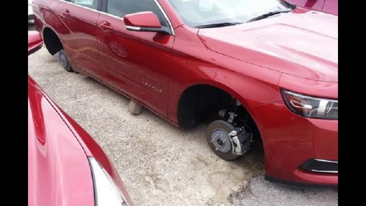 Guangues atormentam donos de esportivos com roubo de rodas nos EUA
