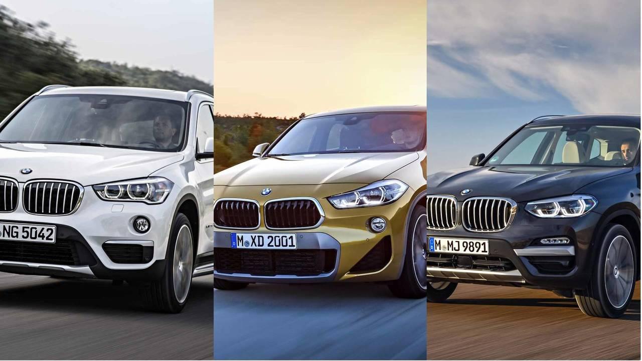 BMW's SUV battle –X1, X2, X3