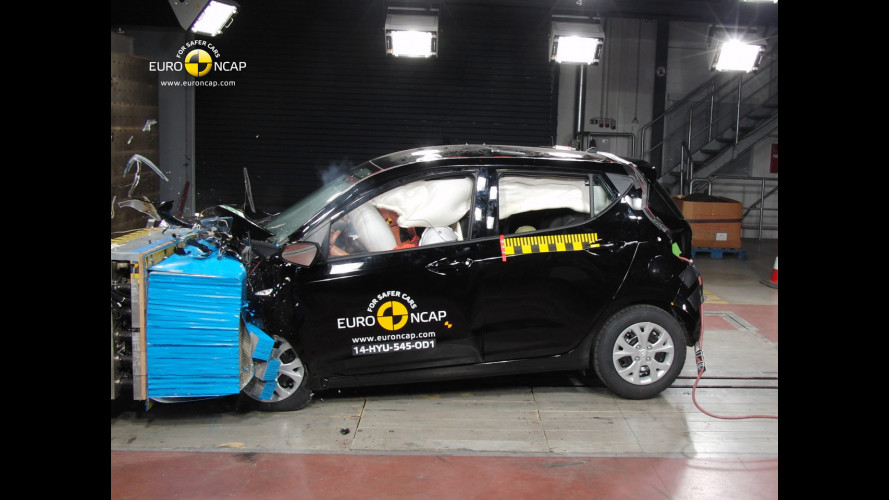 Hyundai i10, 4 stelle nei crash test, ma solo per gli optional