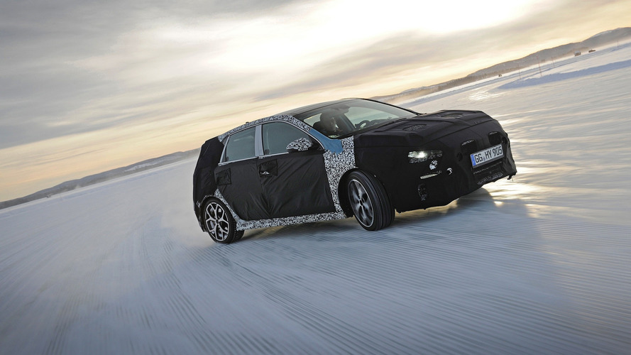 2018 Hyundai i30 N hot hatch goes cold weather testing in Sweden