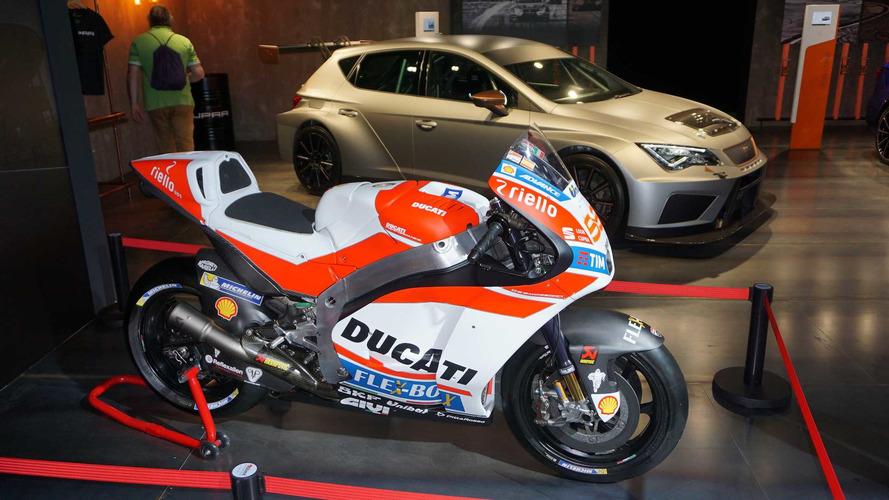 La Ducati de Lorenzo, en el salón de Barcelona 2017