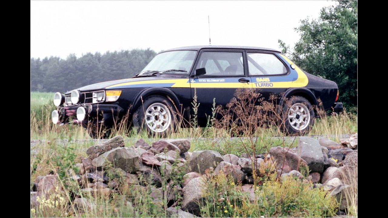 Auf der Basis des 99 entstand Ende der 1970er-Jahre das letzte Rallyeauto von Saab