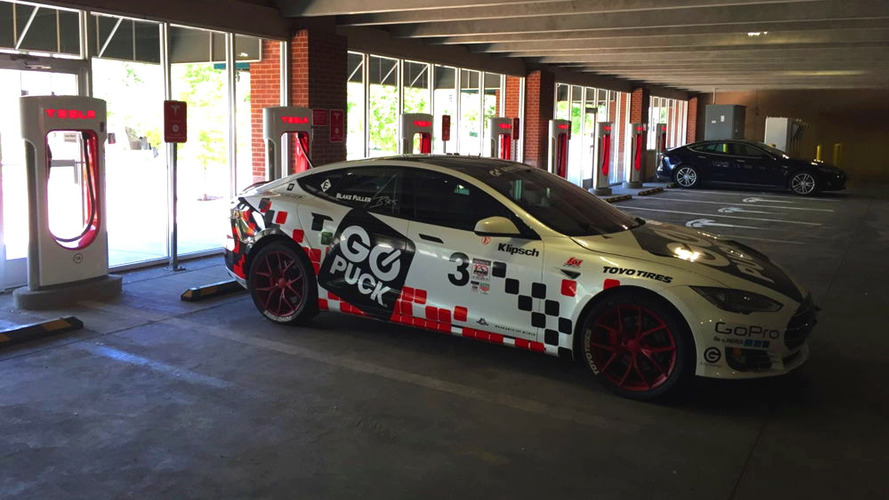Pikes Peak-winning Tesla Model S lies abandoned at Supercharger station