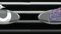 Left: The new Geely ogo; Right: WCF speculates on the artist's inspiration