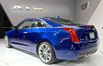 Cadillac ATS Loses 2 Doors and a Wreath in Detroit