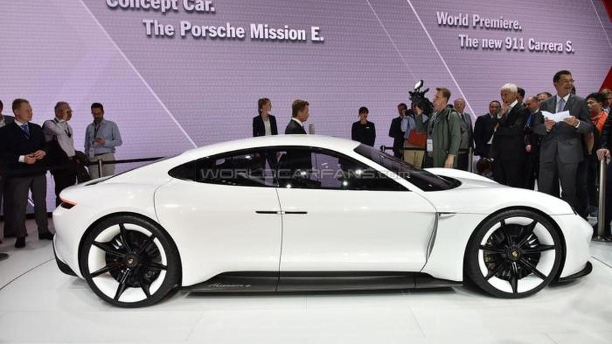 Radically styled Porsche Mission E concept electrifies IAA with more than 600 PS and 500 km range