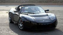 Tesla Roadster and Arnold Schwarzenegger