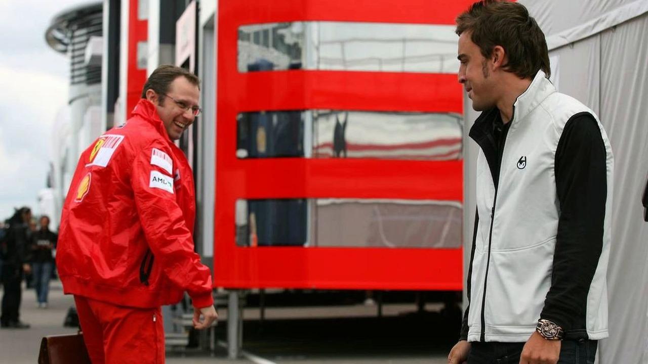 Stefano Domenicali, Fernando Alonso, British Grand Prix 18.06.2009