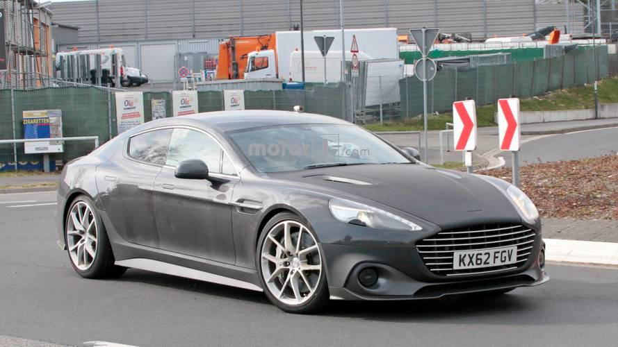 Aston Martin Rapide AMR Spied Testing At The Nürburgring