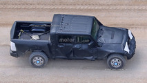 Jeep Wrangler pickup truck spy photo