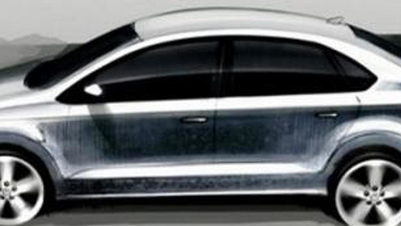 2012 Volkswagen Polo V sedan leaked design sketch - 600 - 03.05.2010