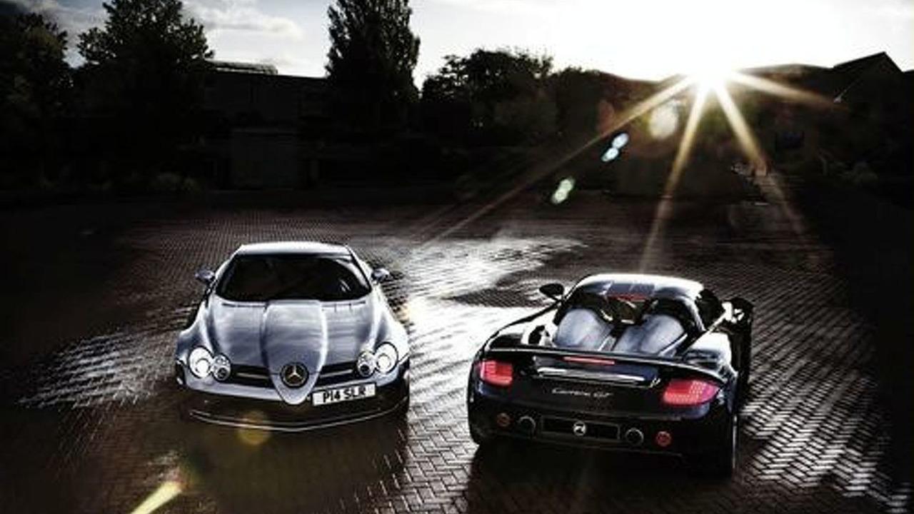 P1 Supercar Club - Mercedes-McLaren SLR & Porsche Carrera GT
