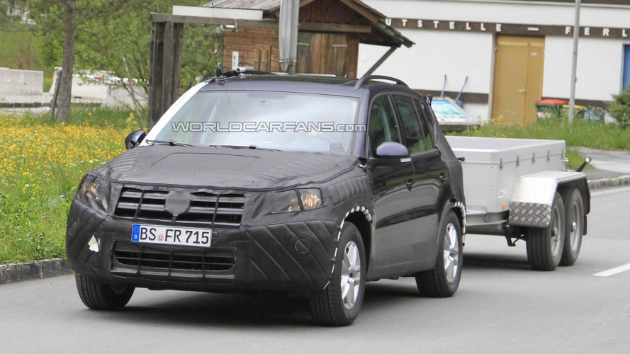 Volkswagen Tiguan facelift for Europe spied testing