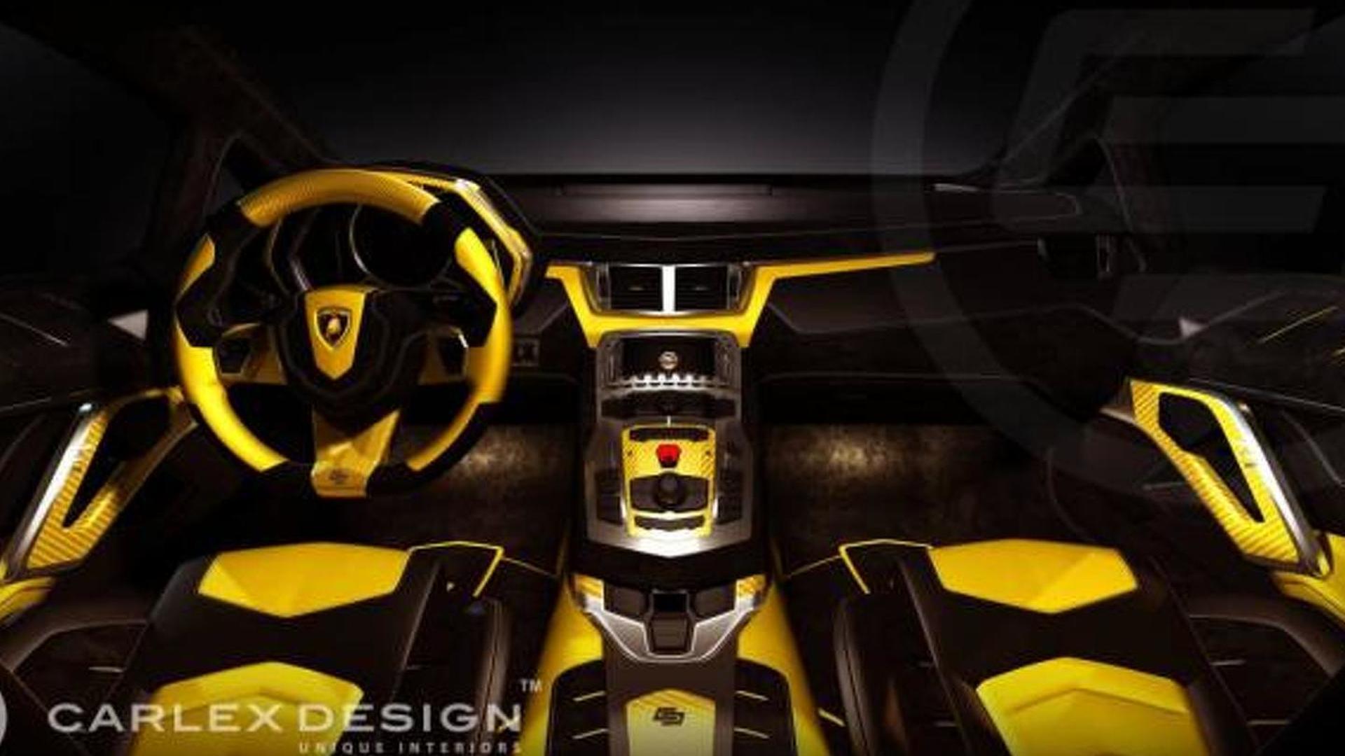 Lamborghini Aventador Anniversario interior restyled by Carlex Design