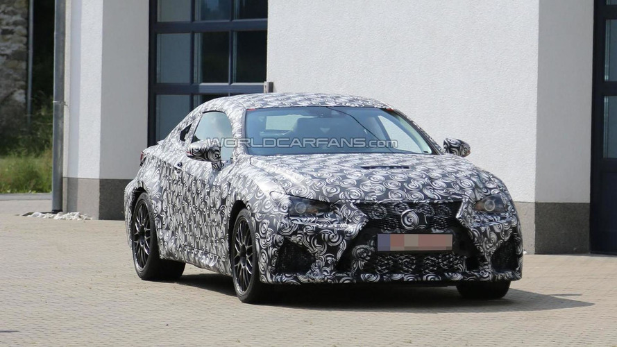 2015 Lexus IS F Coupe spied for the first time