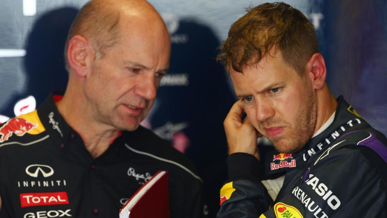 Adrian Newey with Sebastian Vettel 10.05.2013 Spanish Grand Prix