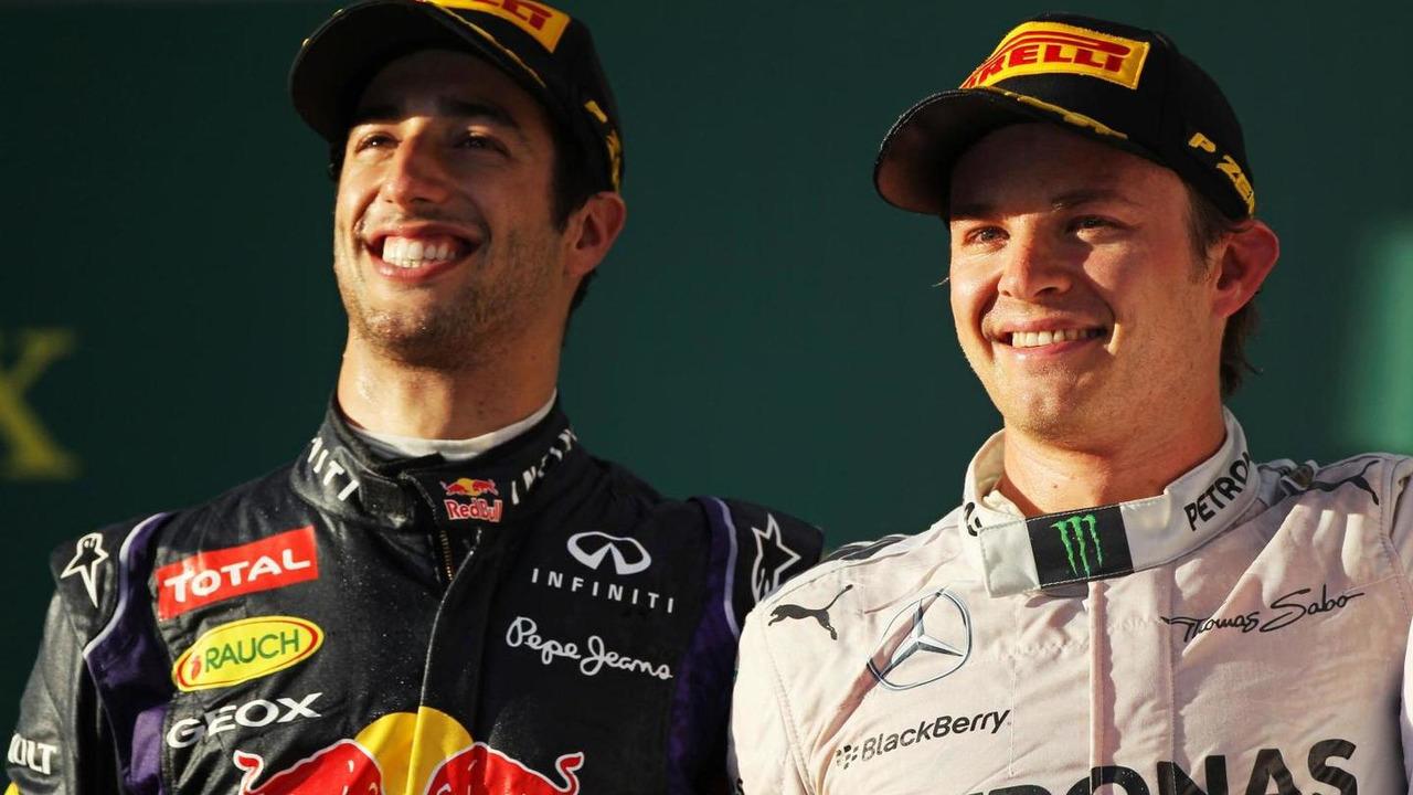 Daniel Ricciardo (AUS) with Nico Rosberg (GER), 16.03.2014, Australian Grand Prix, Albert Park, Melbourne / XPB
