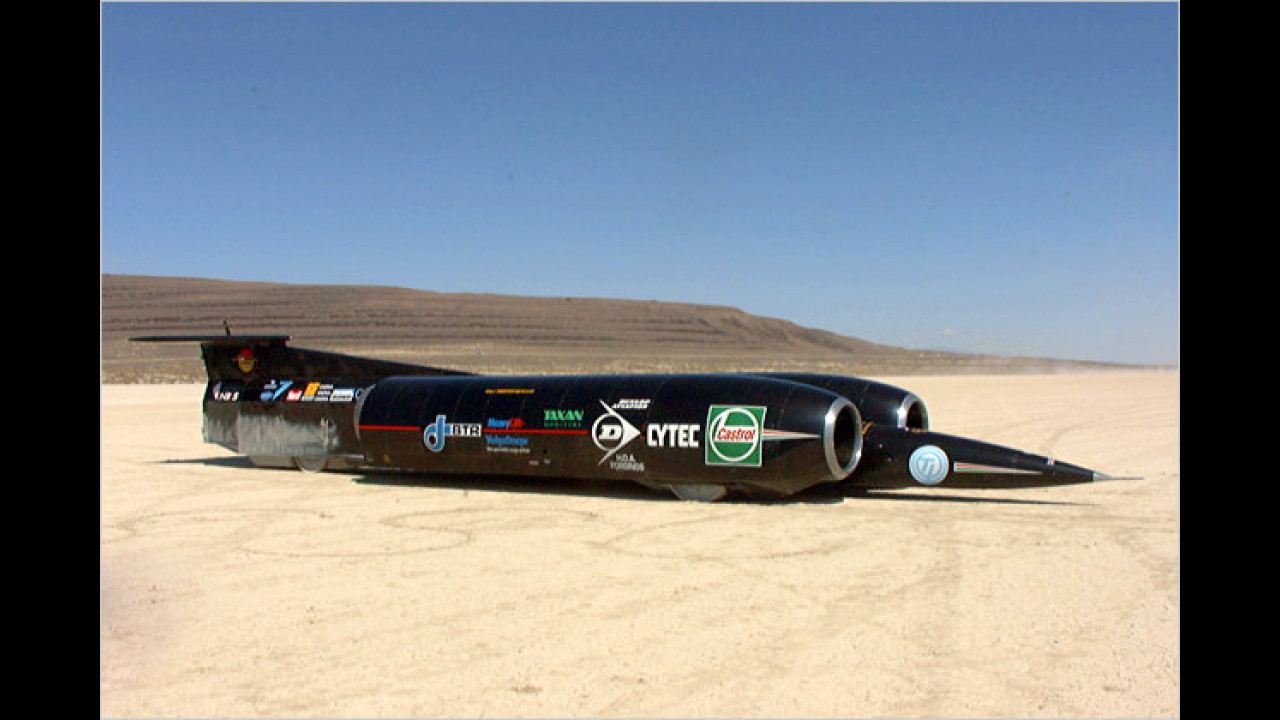 Das schnellste Fahrzeug auf Rädern: Thrust SSC