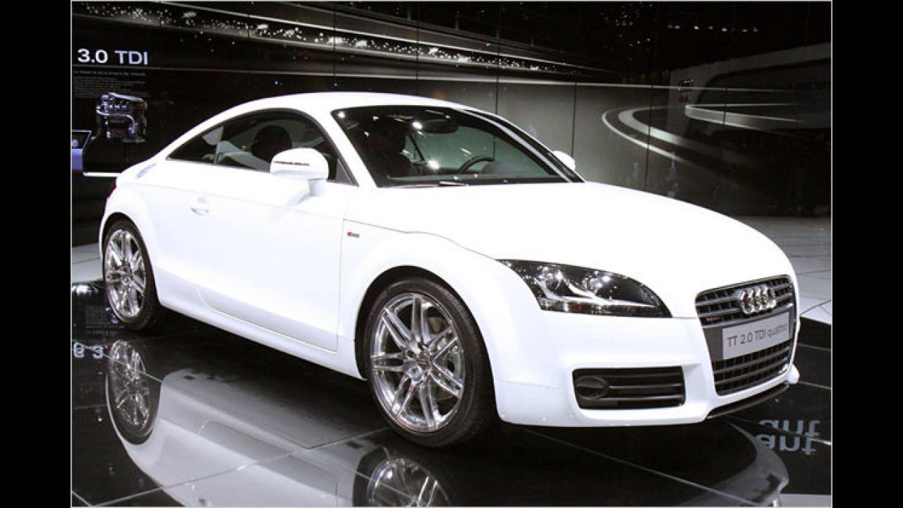 Audi TT 2.0 TDI: Erstmals bauen die Ingolstädter einen Selbstzünder-Motor in TT Roadster und Coupé ein