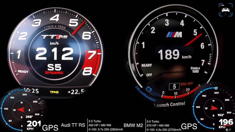 VIDÉO - La BMW M2 face à l'Audi TT RS
