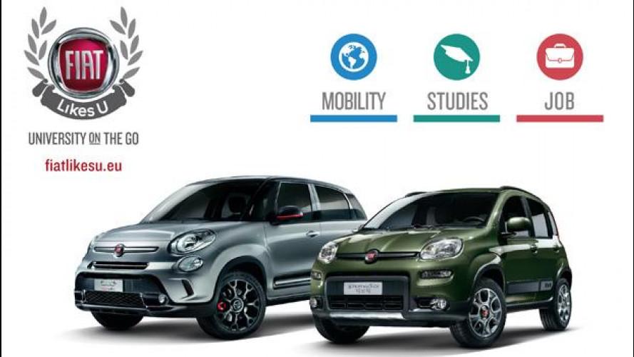 Torna Fiat Likes U, il car sharing gratuito per le università