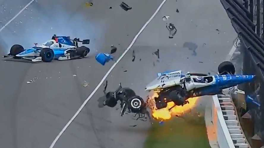 Scott Dixon Escapes Massive Airborne Crash That Halts Indy 500