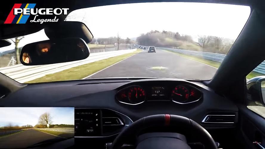 VIDÉO - Une 308 GTi chasse une Golf R et Clubsport  sur le Nurburgring