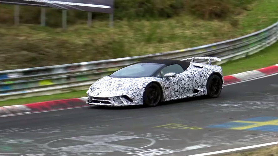 Lamborghini Huracan Performante Spyder Spied At The Ring