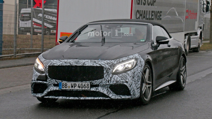 Photos espion - La Mercedes-AMG S 63 Cabriolet restylée