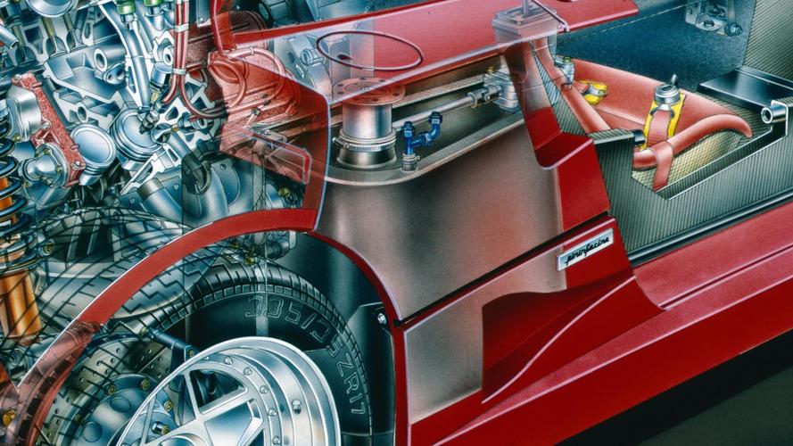 Ferrari F40 prototip kesit çizimi - David Kimble