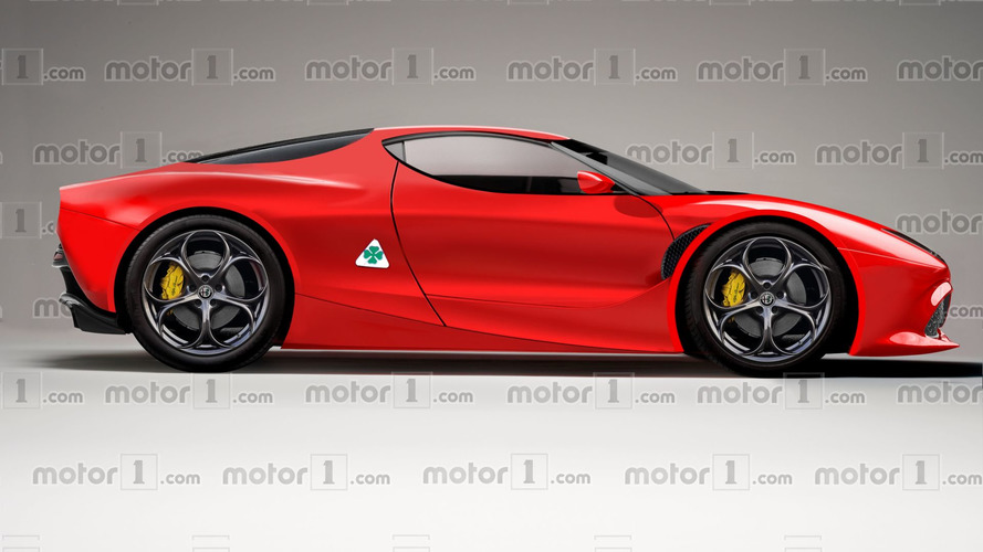 Alfa Romeo 8C Render Attempts To Predict The 700-HP Coupe