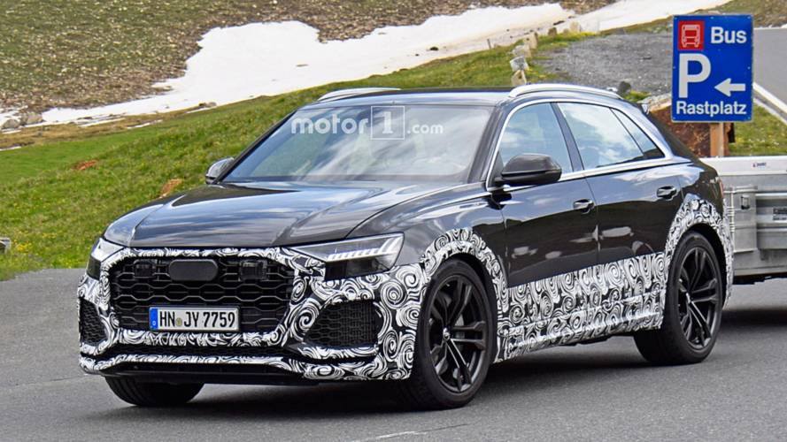 Audi RS Q8 Showing Off Its Meaner Body In The Austrian Alps