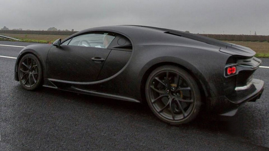 Bugatti Chiron photographed up close in Italy