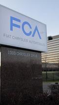 Fiat Chrysler Automobiles sign at Auburn Hills Headquaters