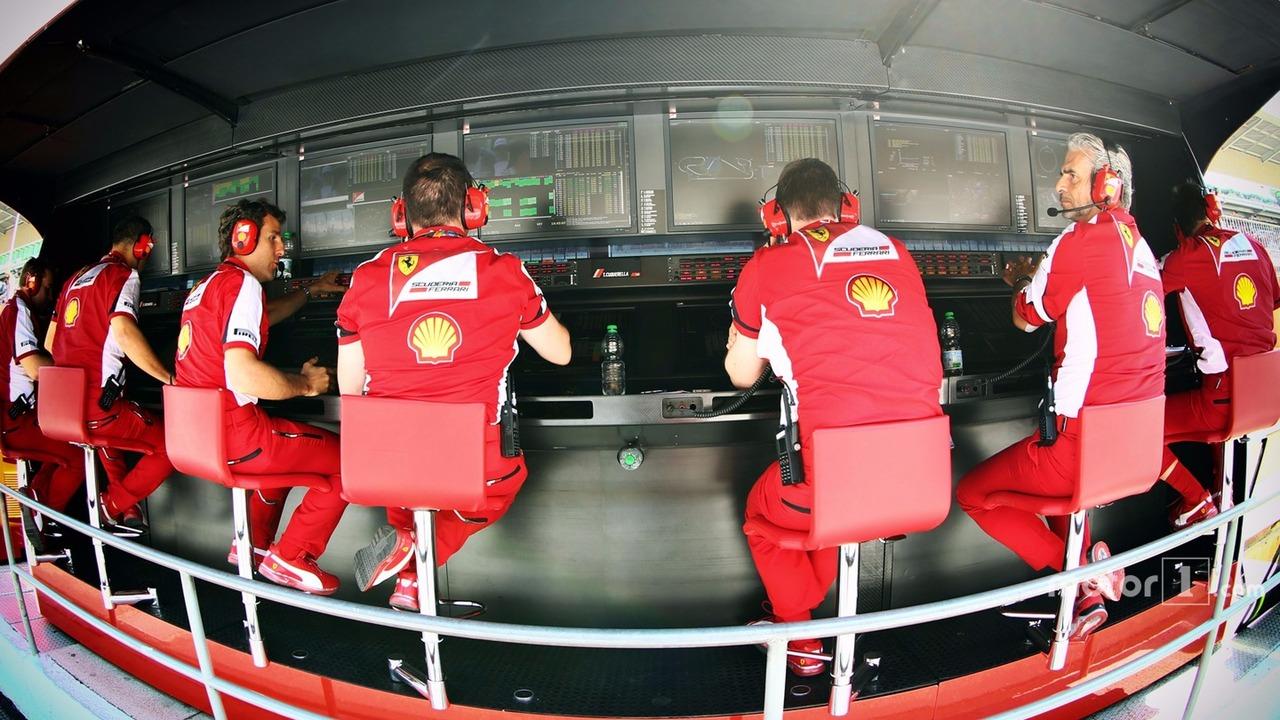 Ferrari pit gantry
