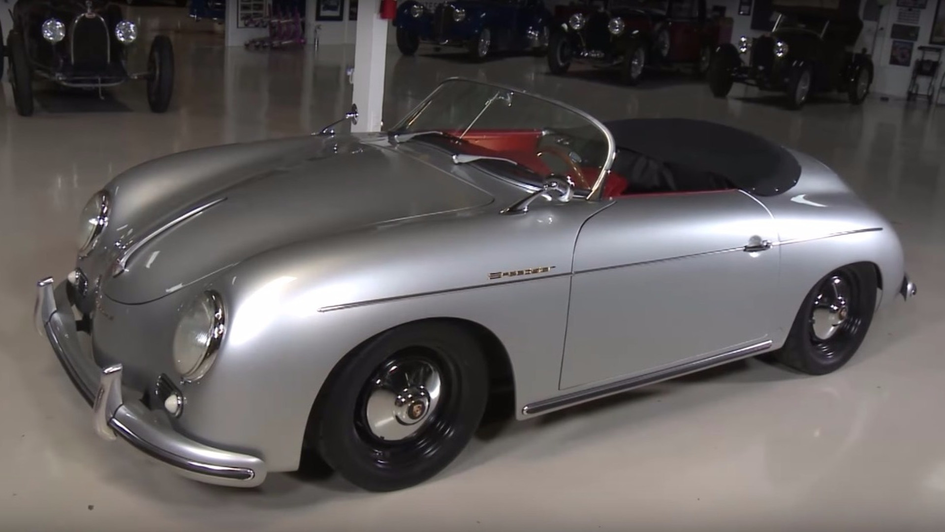Jay Leno Tries A Porsche Speedster Replica With An Unusual