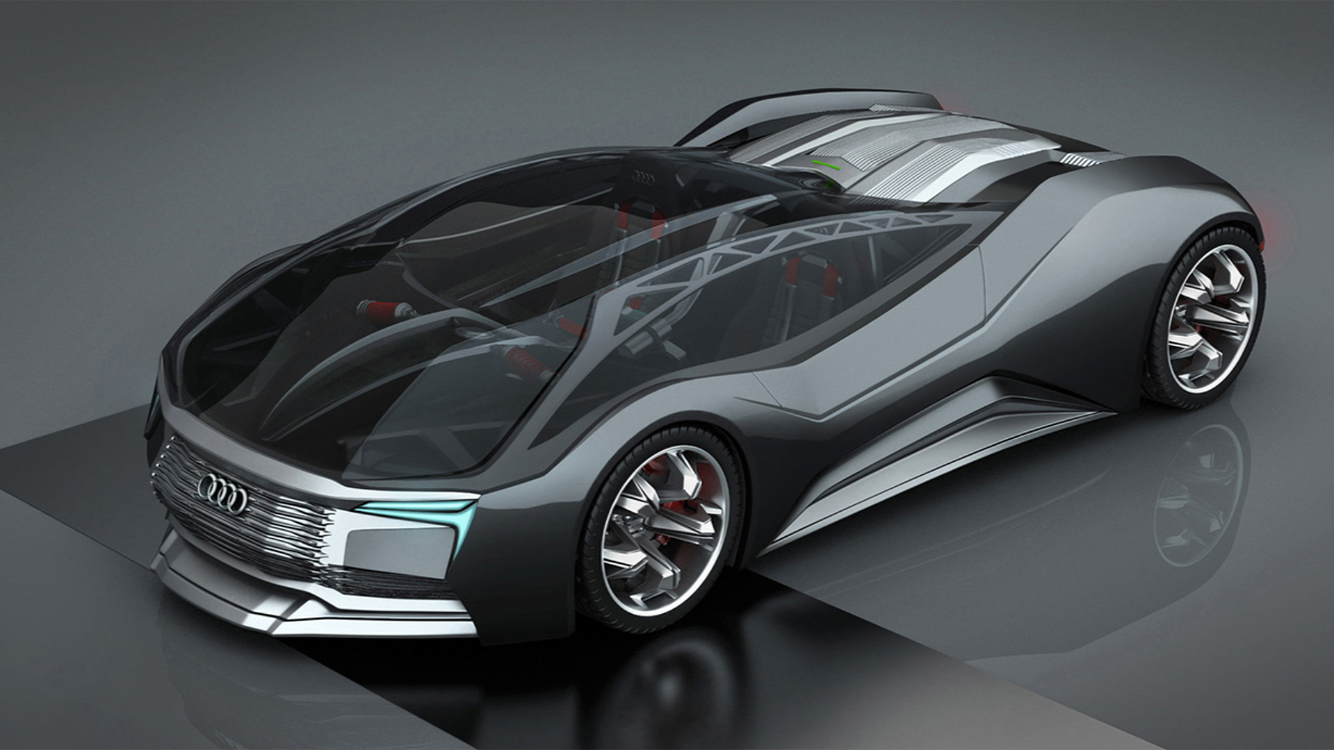 Audi Inspired F-Tron Design Concept Is A Nuclear-powered