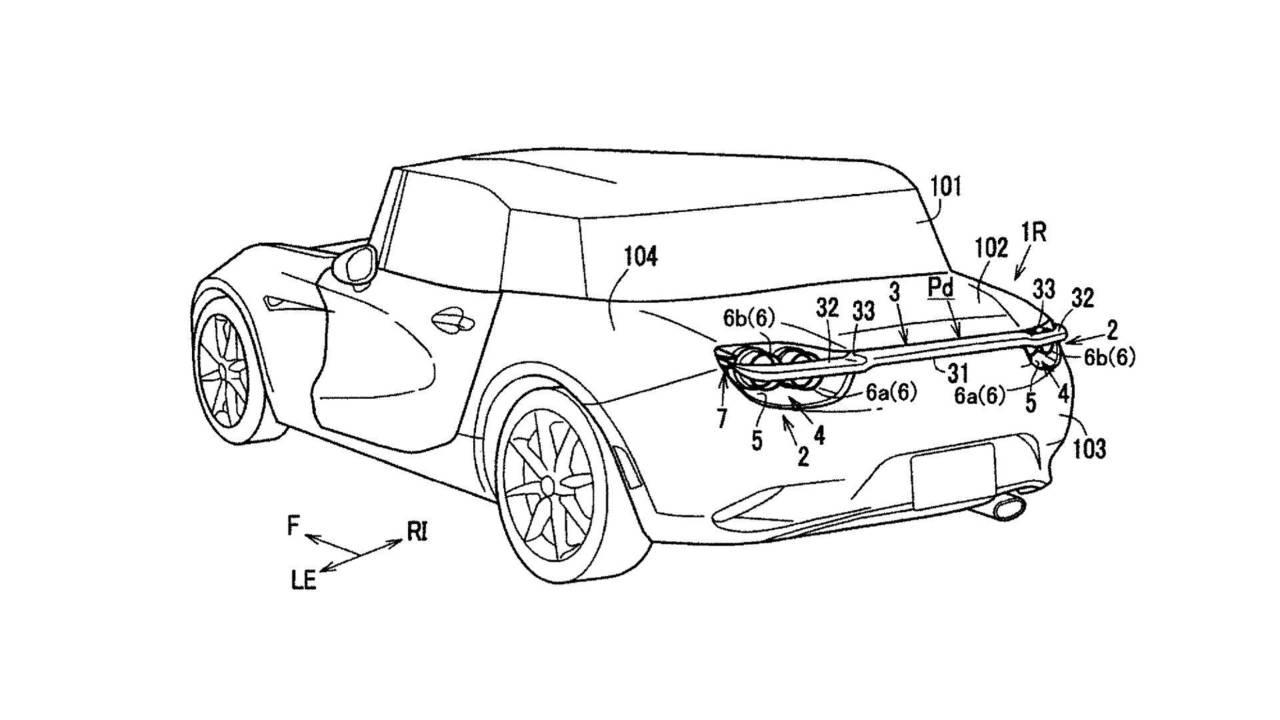Mazda Rear Spoiler Patent