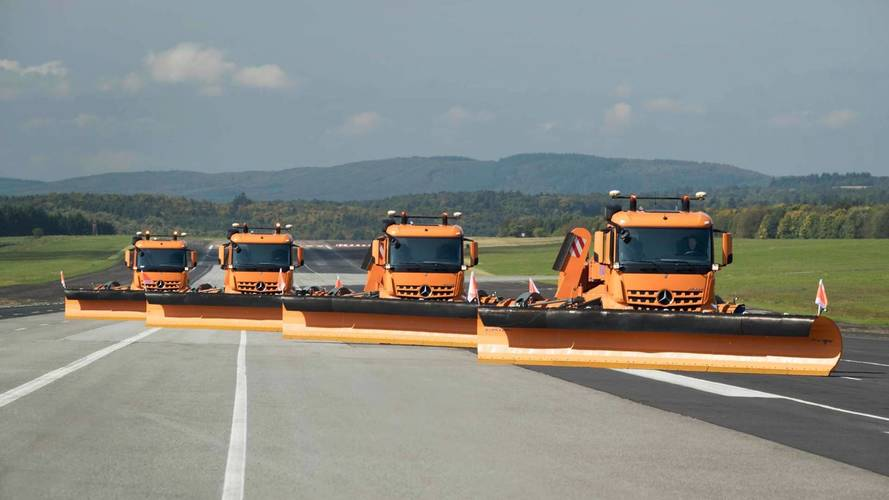 Mercedes-Benz tests huge self-driving snow ploughs