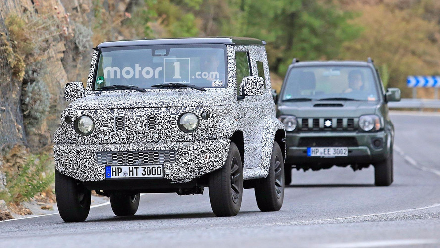 Next-gen Suzuki Jimny Spied Testing With Current Model